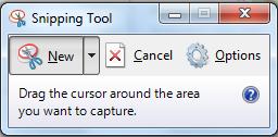 صورة اداة snipping tool لتصوير سطح المكتب