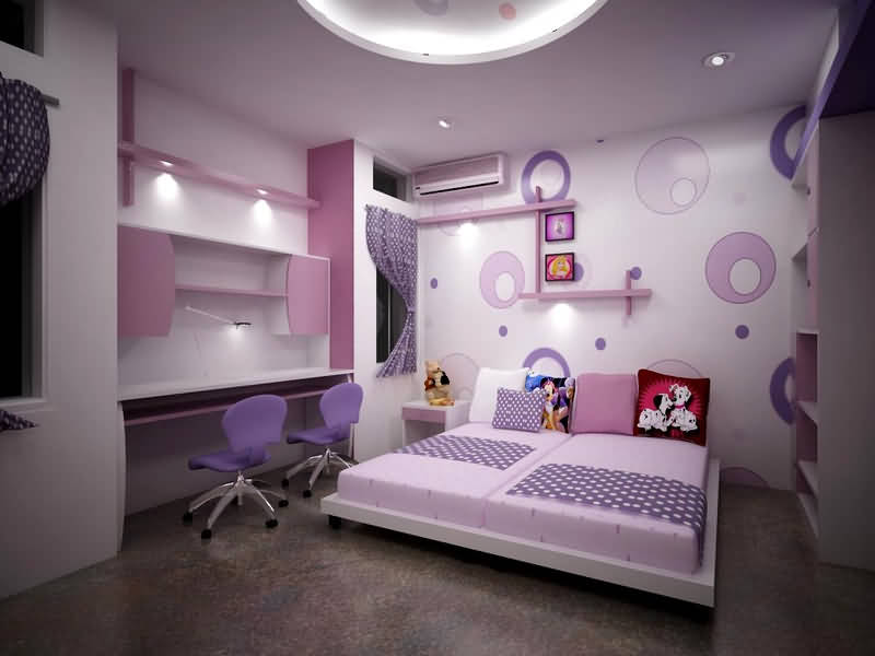 احدث تصميم غرف نوم بنات 2018