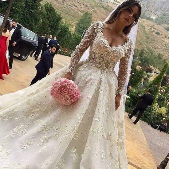 فساتين زفاف اوف وايت جديدة 2018