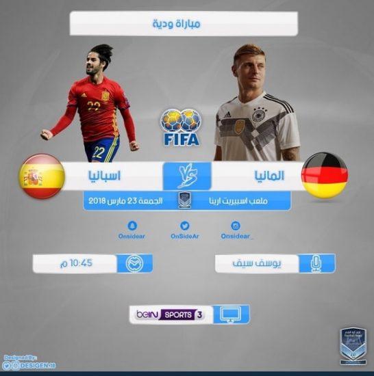 مشاهدة مباراة المانيا واسبانيا