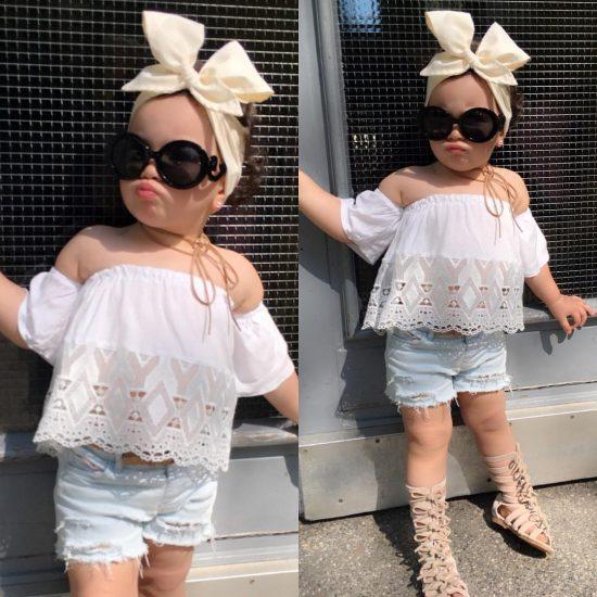 اجمل اطقم ملابس اطفال بنات للعيد 2018