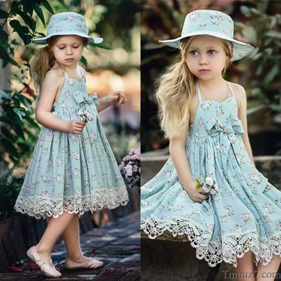 اشيك فساتين اطفال للعيد , موديلات ملابس اطفال بنات 2018