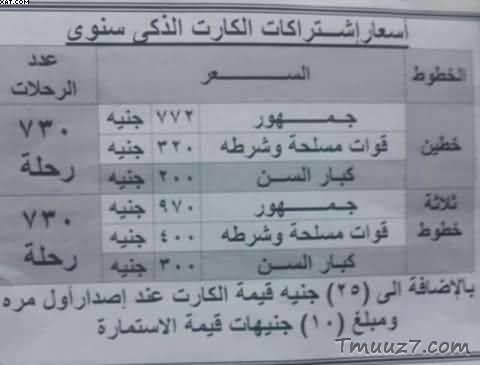 اسعار اشتراك مترو الانفاق,مترو الانفاق,مترو,تذاكر