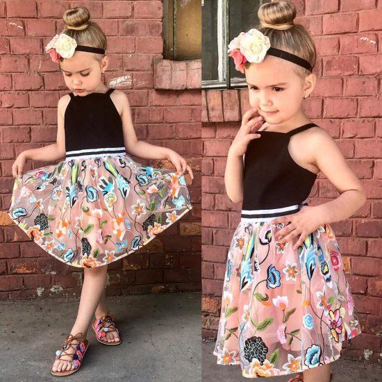 اشيك ملابس اطفال بنات للعيد موديلات جديدة 2018